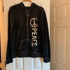 Justice brand Girl's PEACE hoodie jacket, size 20